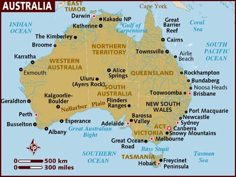 Map Of Australia For Students.Programs Brochure Office For Global Experiences